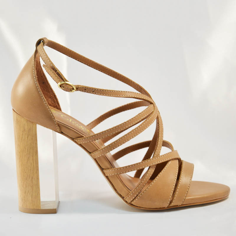 Biguine-nude | clear heels shoes